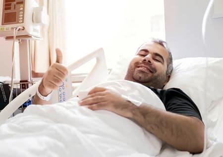 Пациент после удачной трансплантации печени