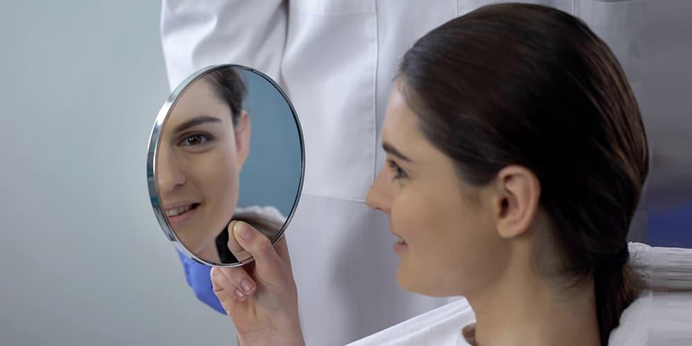Результат коррекции носа