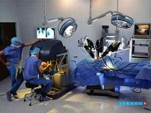 Операция посредством робота да Винчи